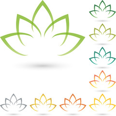 Logo, Blätter, Blume, Heilpraktiker