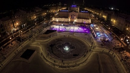 Ice park in the center of Zagreb