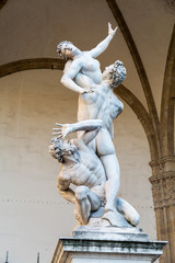The Rape of the Sabine Women, signoria square, florence, italy