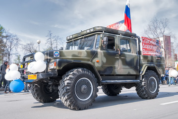 Сar of Emergency Ministry participates in parade