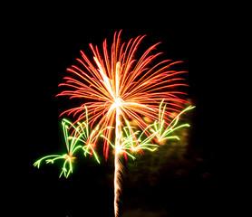 fireworks on black sky background