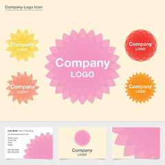 Five abstract flower company logos