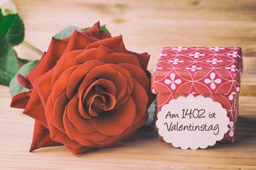 Geschenk zum Valentinstag - Retro Look