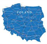Fototapety Poland map