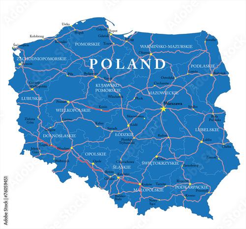 Poland map - 76059451