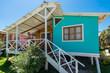 man at the porch of beach house in the peruvian coast at Piura P
