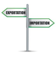 panneau import - export