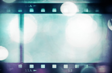 retro color film strip background and texture