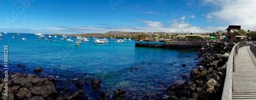 Leinwanddruck Bild marina in san cristobal galapagos islands ecuador