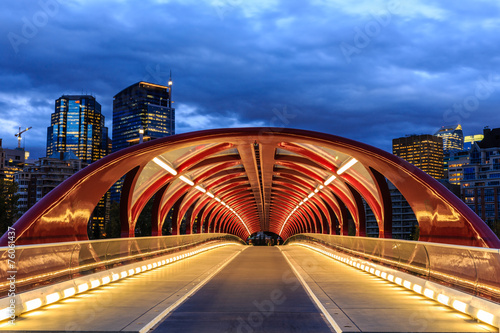 Foto op Canvas Canada Calgary at night