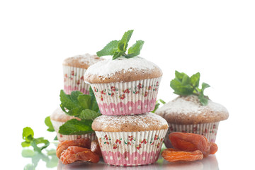 sweet muffins with dried apricots