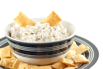 Homemade Black Forest Ham Dip With Sea Salt Crackers