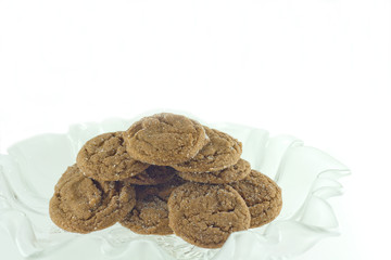 Homemade Sugared Molasses Cookies