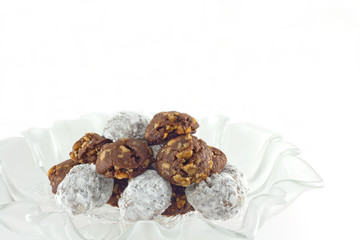 Homemade Chocolate Walnut Snowball Cookies