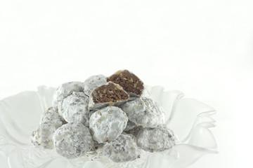 Homemade Chocolate Walnut Snowball Cookies