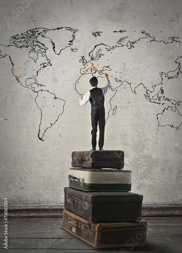 canvas print picture World map