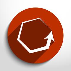 Vector update web icon.