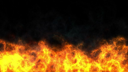 flames fire abstract 4k