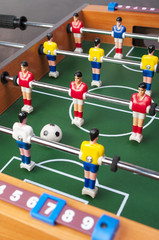 playing toy football players