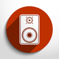 Vector sub woofer web icon.