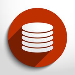 Vector database web icon.