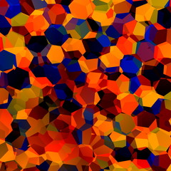 Abstract Colorful Chaotic Geometric Background - Generative Art