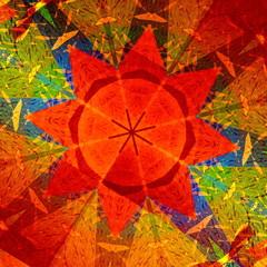 Kaleidoscopic Mandala Circular Abstract Pattern - Colorful