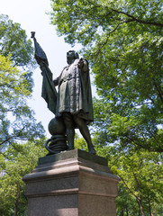 Central Park Christopher Columbus statue