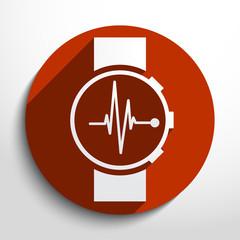 Vector medical watch web icon.