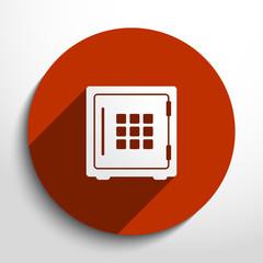 Vector bank safe web icon.