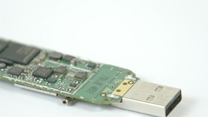A USB chip with small chipset on it