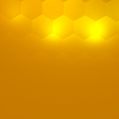 Soft Abstract Background for Your Design - Bright Yellow Light -