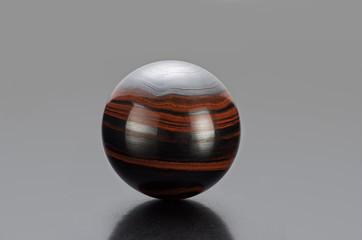 Iron tiger eye sphere