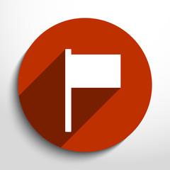 Vector flag web icon.