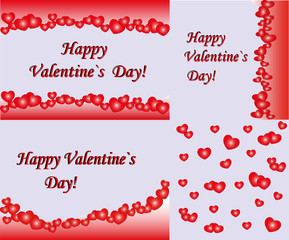 Abstract Valentines Day background with hearts. Place for copy