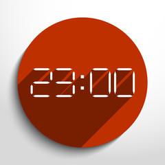 Vector electronic clock web icon.