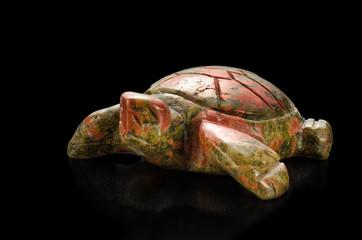 Turtle unakite statuette