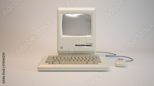 Leinwandbild Motiv old computer