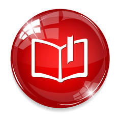 e-book glossy icon on white background