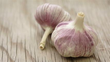 Garlic Bulbs Wood Dolly