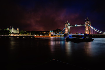 Tower Bridge and Tower.