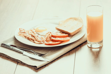 Retro Photo Of English Breakfast