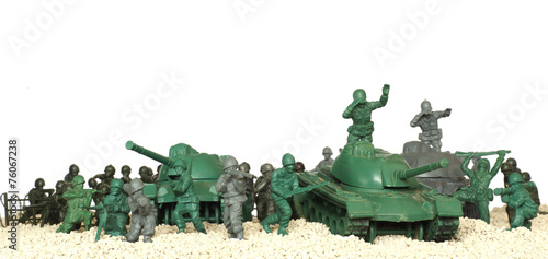 battle tanks plastic toy panorama - 76067238