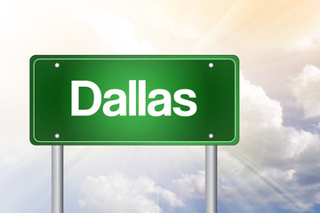 Dallas Green Road Sign, Travel Concept