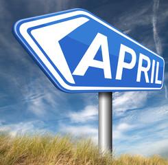 next april