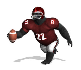 Gorilla Football Player