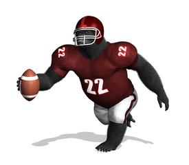 Gorilla Football Player
