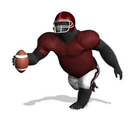Gorilla Football Player (without numbers)