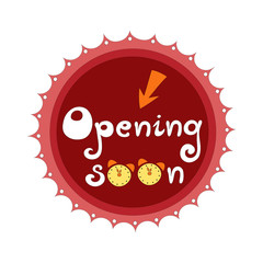 Opening soon badge vector