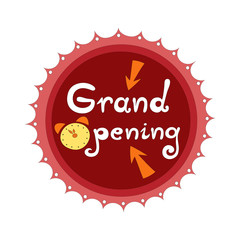 Grand opening badge vector